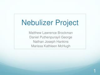 Nebulizer Project