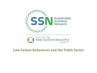 Low Carbon Behaviours and the Public Sector