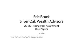 Eric Bruck Silver Oak Wealth Advisors
