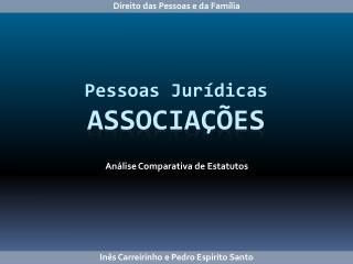 Pessoas Jurídicas  Associações