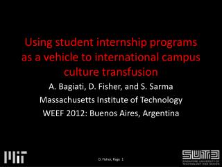 Using student internship programs as a vehicle to international campus culture transfusion