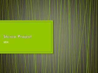 Stereo Project