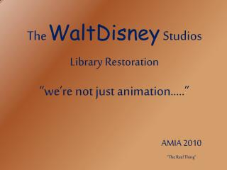 The WaltDisney Studios