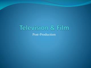 Television & Film
