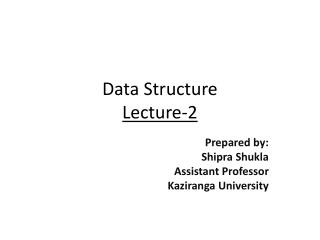 Data Structure Lecture-2