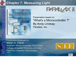 Chapter 7: Measuring Light