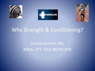 Why Strength & Conditioning?