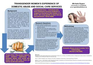 TRANSGENDER WOMEN'S EXPERIENCE OF  DOMESTIC ABUSE AND SOCIAL CARE SERVICES