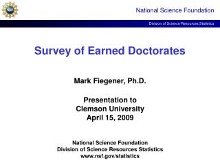 Survey of Earned Doctorates