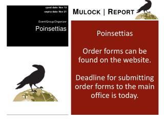 Poinsettias Order forms can be found on the website.