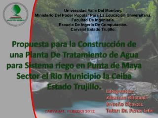 Universidad Valle Del  Momboy. Ministerio Del Poder Popular Para La Educación Universitaria.