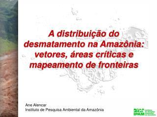 A distribui  o do desmatamento na Amaz nia: vetores,  reas cr ticas e mapeamento de fronteiras