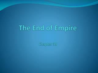 The End of Empire Chapter 39