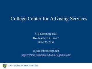 College Center for Advising Services