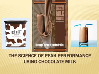 The Science of Peak Performance Using Chocolate Milk