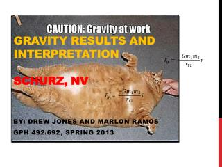 Gravity results and interpretation  Schurz, NV
