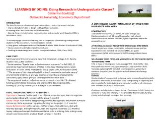 LEARNING BY DOING: Doing Research in Undergraduate Classes?