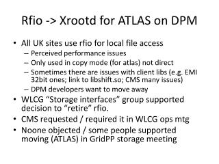 Rfio  ->  Xrootd  for ATLAS on DPM
