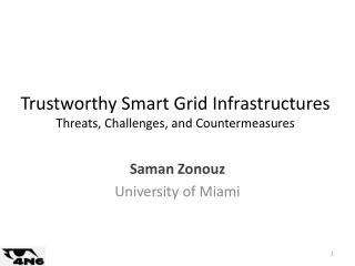 Trustworthy Smart Grid Infrastructures  Threats, Challenges, and Countermeasures