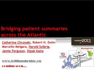 Bridging patient summaries across the Atlantic