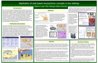 Application of web-based neuroscience concepts in two settings