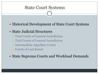 State Court Systems
