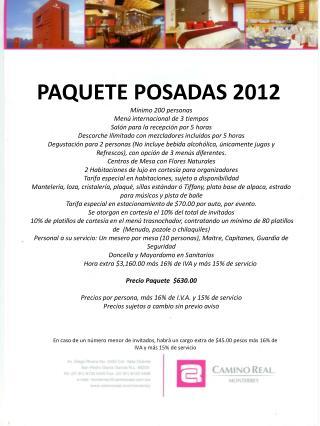 PAQUETE POSADAS 2012 PROMOCION