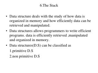 6.The Stack