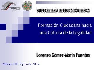 Formaci n Ciudadana hacia una Cultura de la Legalidad