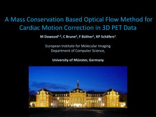 A Mass Conservation Based Optical Flow Method for Cardiac Motion Correction in 3D PET Data