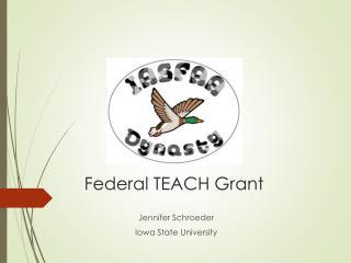 Federal TEACH Grant
