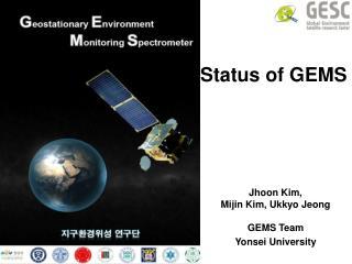Status of GEMS