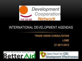 INTERNATIONAL DEVELOPMENT AGENDAs