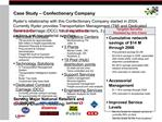 Case Study   Confectionary Company
