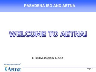 PASADENA ISD AND AETNA