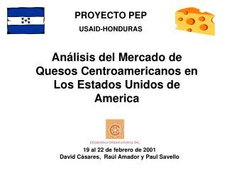 An lisis del Mercado de Quesos Centroamericanos en Los Estados Unidos de America