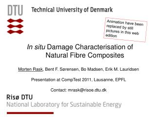 In situ  Damage  Characterisation  of Natural Fibre Composites