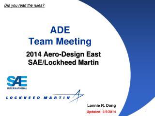 ADE Team Meeting