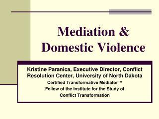 Mediation & Domestic Violence