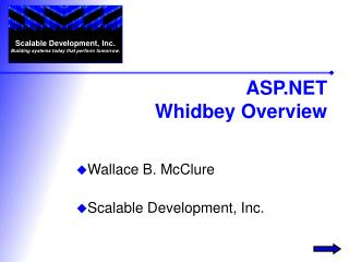 ASP Whidbey Overview