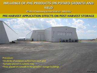 INFLUENCE OF PHC PRODUCTS ON POTATO GROWTH AND YIELD PT-06-11 Summary Across Studies - WA Only
