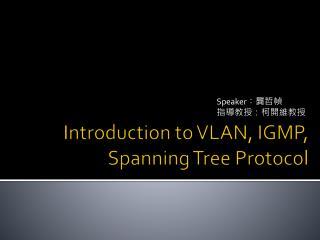 Introduction t o VLAN ,IGMP, Spanning TreeProtocol