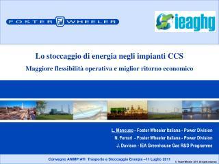 L. Mancuso  - Foster Wheeler Italiana - Power Division