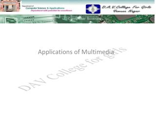 Applications of Multimedia