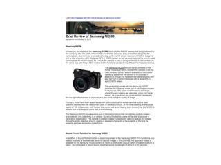 Brief Review of Samsung NX200(1Gadget.net)