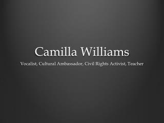 Camilla Williams