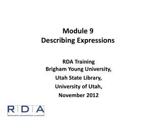 Module  9 Describing Expressions