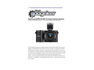 Samsung NX200 20.3MP Compact Camera System(The gadgeteer)