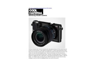 Samsung NX200 Camera (Cool Material)
