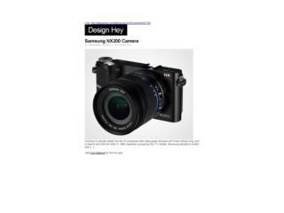 Samsung NX200 Camera (Design Hey)